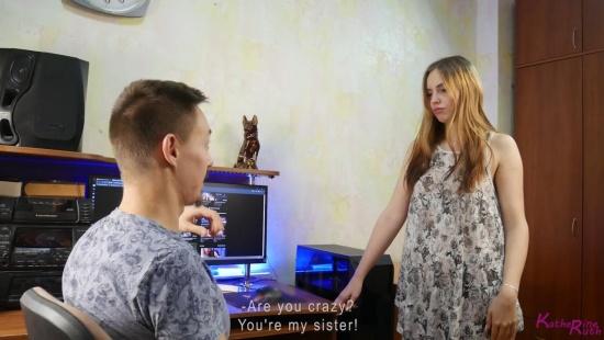Инцест 2021: Русская сестра разделась перед братом и удовлетворила
